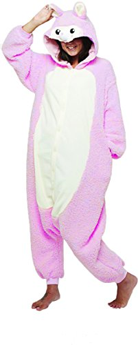 Blue Star Clothing Women's Adult Super Plush Cozy Hooded Oversized Critter Animal One Piece Costume Pajamas |Jumpsuit - Home Made Halloween Costumes Ideas