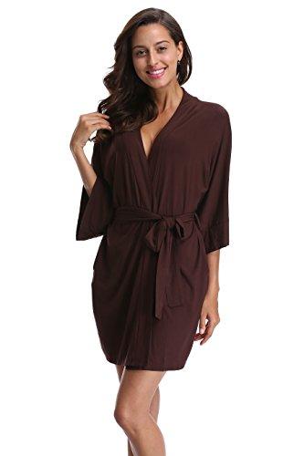 CostumeDeals Womens dept Modal Kimono Robe Short Bathrobe Knit Soft Wrap Sleepwear Loungewear