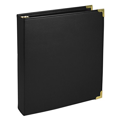 Presentation Ring Binders 3 - Samsill Classic Collection Executive Presentation 3 Ring Binder, 1 Inch Brass Round Ring, Black