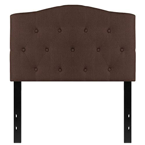 MFO Diana Collection Twin Size Headboard in Dark Brown Fabric