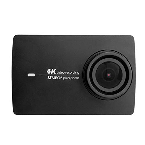 MeterMall Pracrical for Xiaomi YI 4K Action Sport Shock-Proof Camera 4K/30fps Video Voice Control 2.19 inch Touch Screen Black