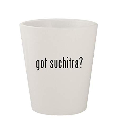 got suchitra? - Ceramic White 1.5oz Shot Glass