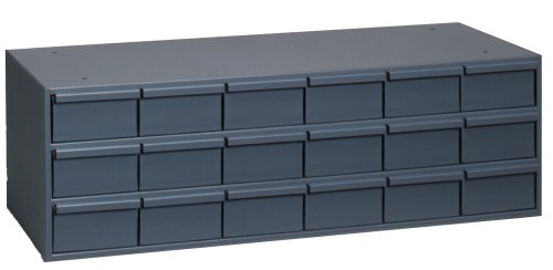 "Durham 005-95 Gray Cold Rolled Steel Storage Cabinet, 33-3/4"" Width x 10-7/8"" Height x 11-5/8"" Depth, 18 Drawer from Durham"
