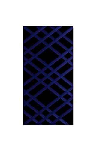 "Bulletin-Memo Board and Picture Frame: Black and Blue (Slim (9"" x 24""))"