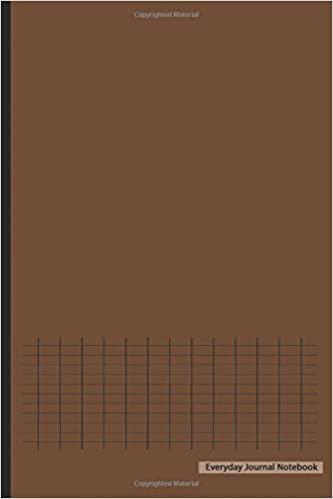 Everyday Journal Notebook Graph Paper Brown Cover 6 X 9