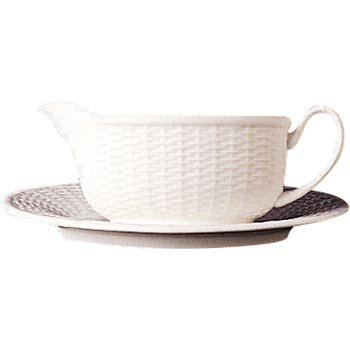 Wedgwood Nantucket Basket Gravy Boat Stand