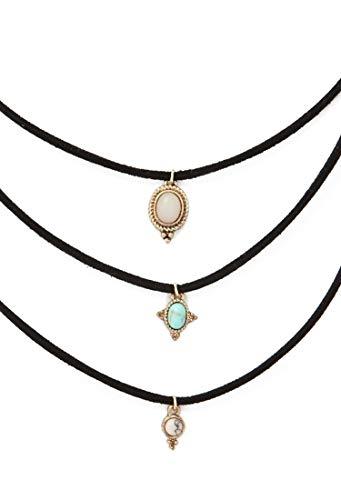 Youngsun 3 ColorsTurquoise Chokers Alloy Cute Pendants Necklace