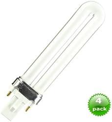 4pack Compact Fluorescent Bulb PLS Shape GX23 Base 13 Watt 7000K CEC Brand