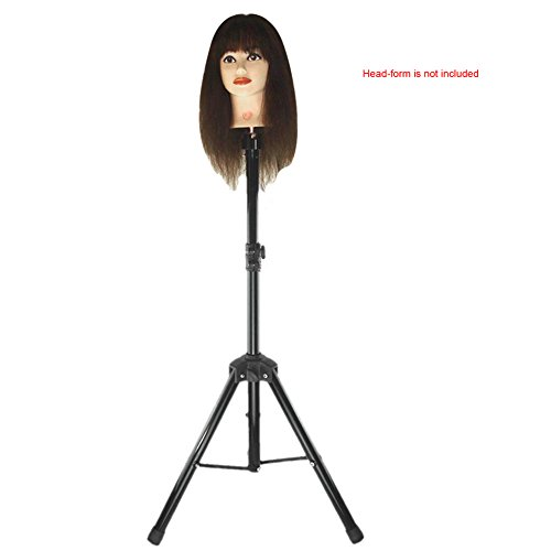 Abody Wig Mannequin Head Tripod Stand With Carry Bag For Cosmetology
