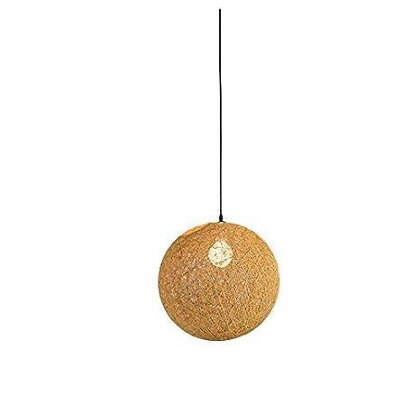 Lámpara de techo de mimbre con forma de bola de ratán, color ...