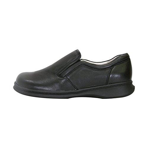 24 Uur Per Dag Het Comfort Fic Jason Mannen Extra Breed Professionele Leer Stap In De Schoen (grootte / Meetgids) Zwart