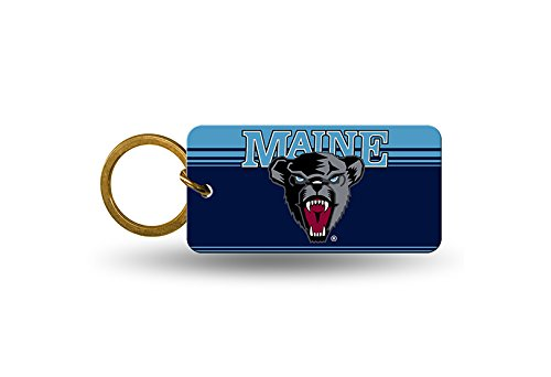 NCAA Maine Crystal View Keychain, 4 x 3