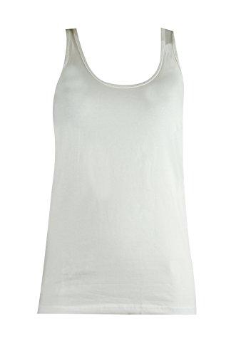 Mysocks® Ropa de playa Selección de trajes de baño, sandalias, sombreros, bolsos y ropa Mysocks® Tops de chaleco de algodón liso Blanco