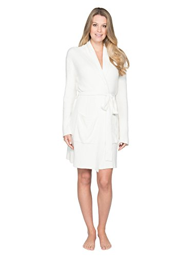 Barefoot Dreams BCL Short Heathered Robe White/Pearl