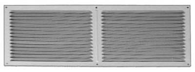 Construction Metals FOV166G Aluminum Face On Vent 16 In. x 6 In. Galvanized - Quantity 12