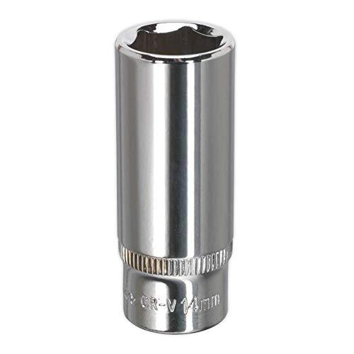 Sealey SP1414D 14mm 1/4'Sq Drive Fully Polished WallDrive Deep Socket