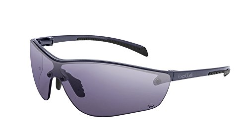 Bolle Safety Silium+ Safety Glasses, Dark Gunmetal Frame, Grey Lenses (Bolle Metals)