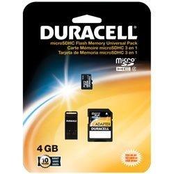 Duracell 4GB Class 4 microSDHC Memory Card w/USB & SD Adapter