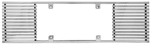 CWL-855A 8mm Polished Aluminum Billet Straight Edge License Plate Frame IPCW
