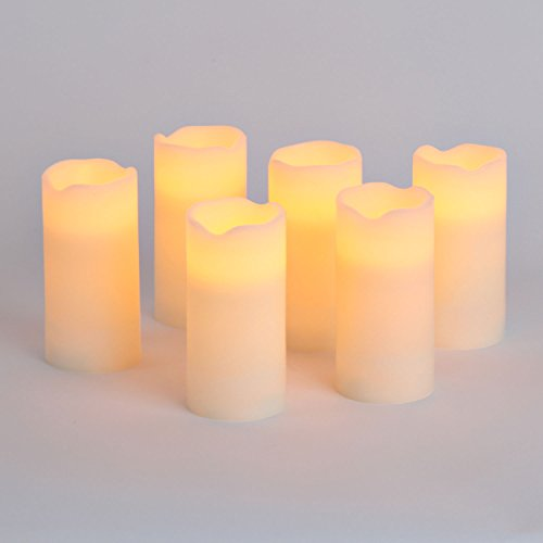 Flameless Pillar Candles Batteries Included