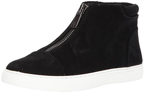 Kenneth Cole New York Womens 7 Kayla Glidelås Foran Tøffel Sneaker Svart Semsket Skinn