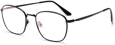 H54eru1z レトロ眼鏡フレーム眼鏡金属パターン非処方眼鏡の男性 6awa23z (Color : Black)