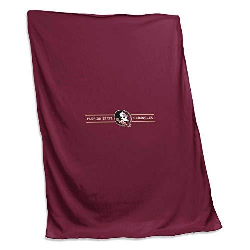 (Logo Florida State Seminoles NCAA 54 X 84 Fleece Sweatshirt Blanket - Team Color,)