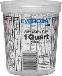 Evercoat 785 Quart Paint Mixing Cup (100 per Case), 100 Pack by Evercoat