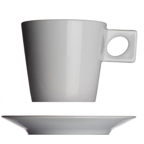 Serie NYNY 4-er Set Cafe au lait Tassen 0,4 ltr von Walk/üre Porzellan