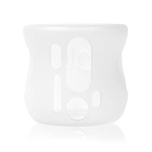 Olababy Silicone Sleeve for Avent Natural Glass Bottles (4 oz, Translucent)