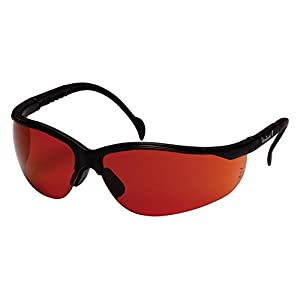Pyramex Venture Ii Safety Eyewear, Sun Block Bronze Lens With Black Frame
