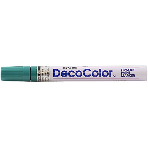 JAM PAPER Broad Point Opaque Paint Markers - Teal - Sold Individually
