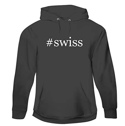 #swiss - Men's Hashtag Pullover Hoodie Sweatshirt, Grey, X-Large