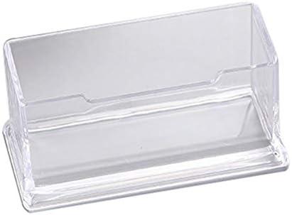 nbvmngjhjlkjlUK Tragbare klare Visitenkartenhalter Display Stand Schreibtisch Desktop Arbeitsplatte Visitenkartenhalter Schreibtisch Regal Box (transparent)