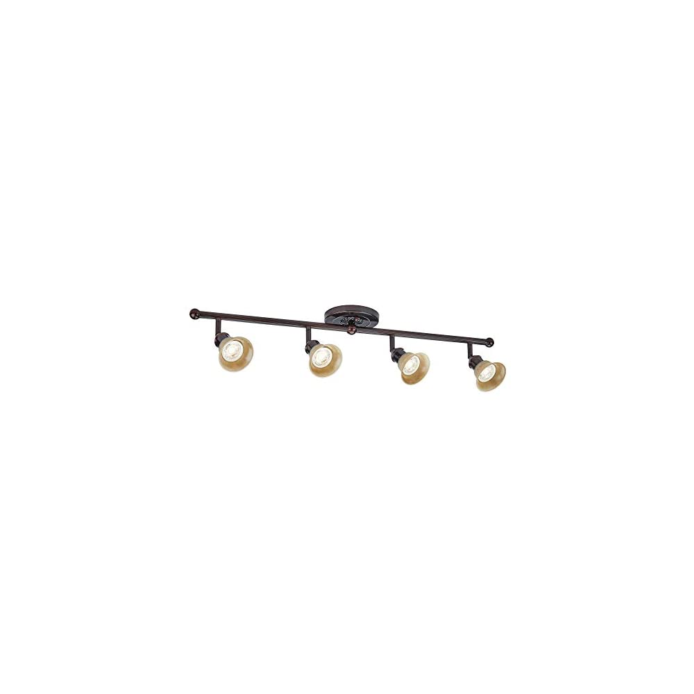 NOMA LED Track Lighting | Adjustable Ceiling Light Fixture | Perfect for Kitchen, Hallway, Living Room & Bedroom | Cream…