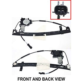 JEEP GRAND JEEP CHEROKEE 99-04 REAR WINDOW REGULATOR RH, Power, w/ - Rh Rear Motor Window