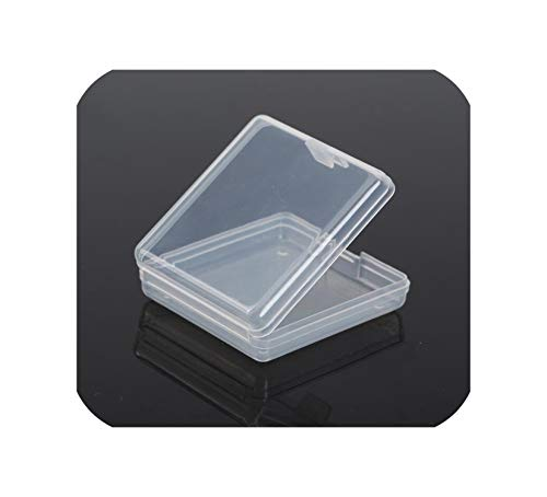 Lidded Small Plastic Box for Trifles Parts Tools Storage Box Jewelry Display Box Screw Case Beads Container,6.1x5.7x1.7cm (Hawaii Five 0 Box Set 1 6)