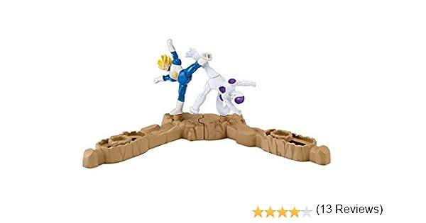 Giochi Preziosi – Dragon Ball Super Spin Battlers 2 Figuras y 2 Basi, Goku Super Sayan vs Majin – Buu Vegeta Super Sayan vs Freezer: Amazon.es: Juguetes y juegos