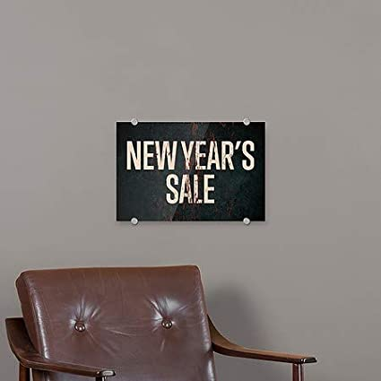 27x18 New Years Sale CGSignLab Ghost Aged Rust Premium Acrylic Sign 5-Pack
