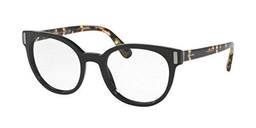 - Prada PR06TV Eyeglass Frames 1AB1O1-50 - Black PR06TV-1AB1O1-50