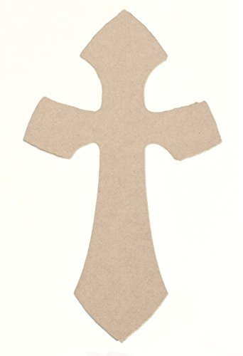 6″ X 4″ Woodcraft Wood Cross Unfinished DIY Extra Small Wooden Craft Cutout to Sell Stacked Crosses