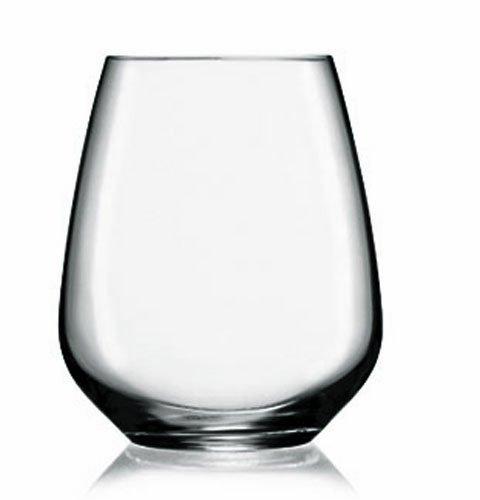 Luigi Bormioli Prestige Stemless Wine Glasses, 23.25 oz, Set of 4