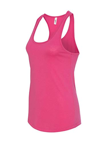 Next Level Apparel Women's Tear-Away Tank Top, Raspberry, Medium