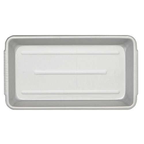 Aluminum Meat and Seafood Pan with Handles Rectangular Ribbed - 15'' L x 8 1/2 W x 2'' H by CLARTEC CORP