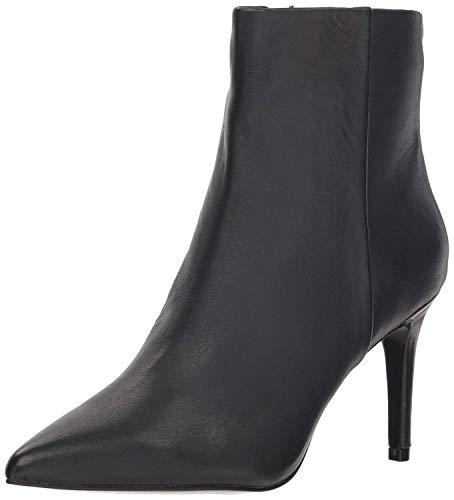 STEVEN by Steve Madden Women's Leila Ankle Boot Black Leather 7 M US