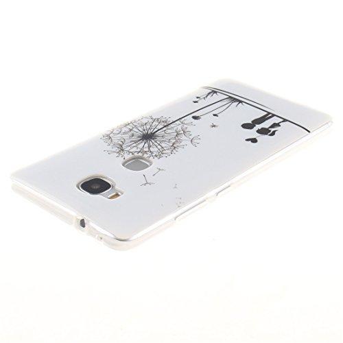 5X GR5 Silicone Peint Bord De Honor Protection Couverture De Téléphone Hozor Souple Fit Transparent Cas Motif TPU Arrière Slim Antichoc En Résistant Dandelion Cas Huawei Scratch Huawei IPxEq