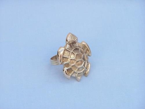 Brass 3' Ring - NR-17-BR Handcrafted Model Ships Brass Turtle Napkin Rings 3`` /supplybuccaneerbarque