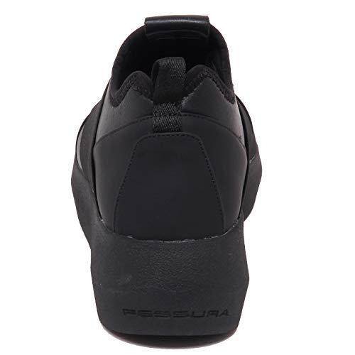 Nero Fessura X Woman eco Donna Black F4456 Hi Shoe twins Leather Tissue Sneaker t47qx7