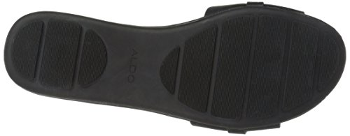 Aldo Femmes Gazella Flat Sandal Noir Synthétique