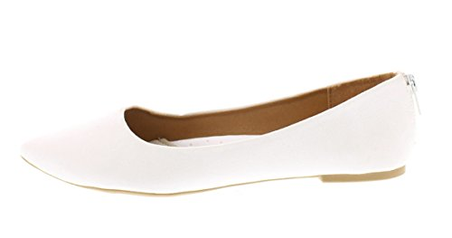 Scarpa Da Donna Allisa In Finta Pelle Scamosciata Con Punta A Punta In Punta Di Moro Con Cerniera Posteriore Con Patta E Plantare Bianco